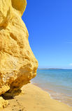 Vale Do Olival Beach spectacular cliffs Stock Image