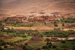 Vale do ounila de Assfalou e de Asif Ait Ben Haddou marrocos Fotografia de Stock