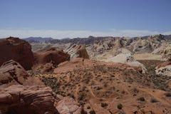 Vale do parque estadual do fogo (Nevada, EUA) fotos de stock