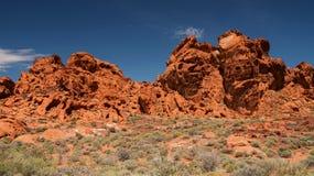 Vale do parque estadual do fogo, Nevada Foto de Stock