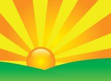 Vale do por do sol. Vetor Fotografia de Stock