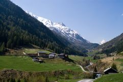 Vale do respiradouro, Áustria Fotografia de Stock