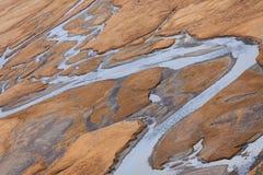 Vale do rio da montanha Fotografia de Stock