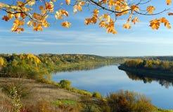 Vale do rio no outono Fotografia de Stock Royalty Free