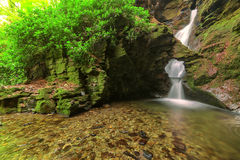 Vale do St Nectan, Tintagel, Cornualha. imagens de stock royalty free