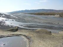 Vale do vulcão da lama imagem de stock royalty free