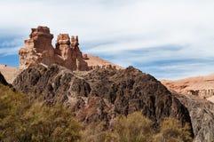 Vale dos castelos em Sharyn Canyon Fotos de Stock Royalty Free