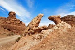 Vale dos castelos em Sharyn Canyon Imagens de Stock