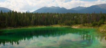 Vale dos cinco lagos em Jasper National Park Fotos de Stock Royalty Free
