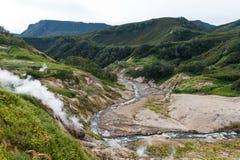 Vale dos geysers Reserva natural de Kronotsky kamchatka Rússia fotos de stock royalty free
