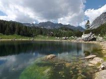 Vale dos lagos Triglav (jezer de Dolina Triglavskih) Fotos de Stock