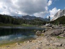 Vale dos lagos Triglav (jezer de Dolina Triglavskih) Imagem de Stock