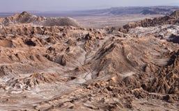 Vale dos mortos - deserto de Atacama - o Chile fotografia de stock royalty free