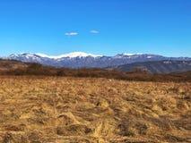 Vale e montanhas Fotografia de Stock