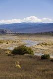 Vale e rio Foto de Stock