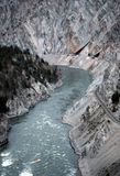 Vale e rio de Fraser imagem de stock