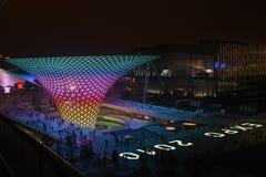 Vale ensolarado do bulevar da expo do mundo de Shanghai Foto de Stock