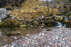Vale escondido Escócia fotografia de stock royalty free