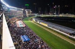 Vale feliz da trilha de corrida de cavalos Imagens de Stock