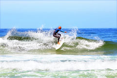 VALE FIGUEIRAS - AUGUST 20: Professional surfer surfing a wave o Royalty Free Stock Photo