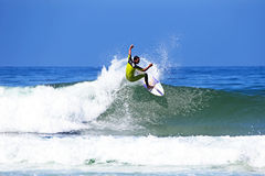 VALE FIGUEIRAS -  AUGUST 20: Professional surfer surfing a wave Stock Photography