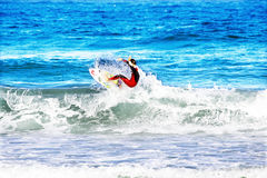 VALE FIGUEIRAS - AUGUST 16: Professional surfer surfing a wave Stock Photography