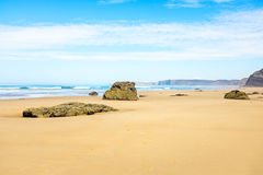 Vale Figueiras beach in Portugal Stock Image