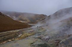 Vale geotérmica Kerlingarfjoll, Islândia Fotografia de Stock Royalty Free