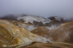 Vale geotérmica Kerlingarfjoll, Islândia Imagens de Stock Royalty Free