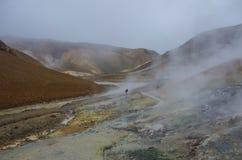 Vale geotérmica Kerlingarfjoll, Islândia Fotos de Stock Royalty Free