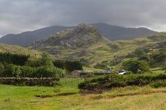 Vale glacial misto de Drws y em Snowdonia Fotos de Stock Royalty Free