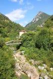 Vale histórico do moinho de papel perto do toscolano, Italia Fotografia de Stock