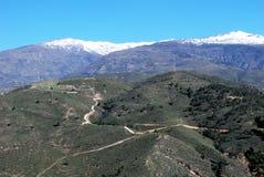 Vale of Lecrin, Las Alpujarras, Andalusia, Spain. Countryside in the Vale of Lecrin near Velez Bonaudalla, Las Alpujarras, Granada Province, Andalusia, Spain Royalty Free Stock Images