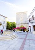 Vale market place, Krk town, Croatia Royalty Free Stock Photography
