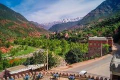 Vale Marrocos de Ourika Foto de Stock