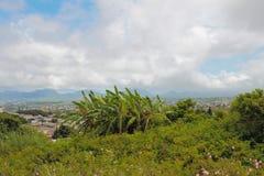 Vale na vizinhança de Trou Cerfs auxiliar Curepipe, Maurícias Fotografia de Stock Royalty Free