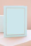 Vale-oferta azul vazio foto de stock royalty free