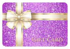 Vale-oferta brilhante violeta composto dos brilhos ilustração royalty free