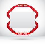 Vale-oferta com fitas do origâmi Imagem de Stock