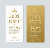 Vale-oferta com presentes ilustração do vetor