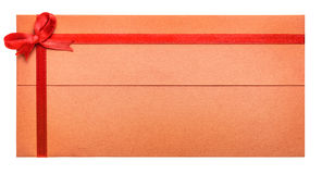 Vale-oferta de papel com fita vermelha e uma curva Imagem de Stock Royalty Free