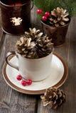 Vale-oferta do Natal com composição do feriado Foto de Stock Royalty Free