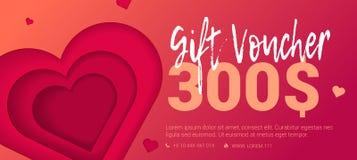 Vale-oferta Trad com coração gravado ilustração stock