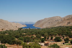 Vale of Pedi, Symi island Stock Photo