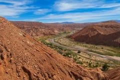 Vale Quitor dos oásis em Atacama, o Chile fotografia de stock royalty free