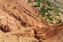 Vale Quitor dos oásis em Atacama, o Chile imagem de stock
