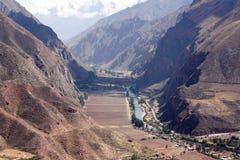 Vale sagrado dos Incas foto de stock