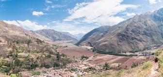 Vale sagrado dos Incas, vale de Urubamba, Peru foto de stock