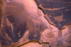 Vale Utá do monumento dos Petroglyphs de Anasazi Foto de Stock