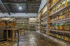 VALE VERDE , BETIM ,BRAZIL-Museum of cachaca. VALE VERDE , BETIM ,BRAZIL- MARCH 14 , 2015 ;Museum of cachaca, the most popular alcohol in Brazil, in ecological royalty free stock photos